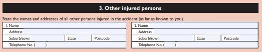 report of traffic incident to police section 3